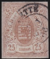 Luxembourg     .    Yvert    .    8  ( 2 Scans )       .     O     .        Oblitéré    .      /     .    Gebraucht - 1859-1880 Wappen & Heraldik