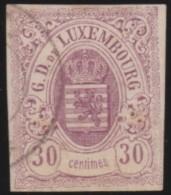 Luxembourg     .    Yvert    .    9 ( 2 Scans )       .     O     .        Oblitéré    .      /     .    Gebraucht - 1859-1880 Wappen & Heraldik