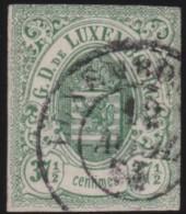 Luxembourg     .    Yvert    .    10    ( 2 Scans )       .     O     .        Oblitéré    .      /     .    Gebraucht - 1859-1880 Wappen & Heraldik