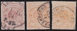 Luxembourg     .    Yvert    .    16  A/b/c       .     O     .        Oblitéré    .      /     .    Gebraucht - 1859-1880 Wappen & Heraldik