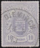 Luxembourg     .    Yvert    .    17       .     O     .        Oblitéré    .      /     .    Gebraucht - 1859-1880 Wappen & Heraldik
