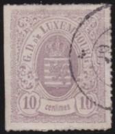 Luxembourg     .    Yvert    .    17a       .     O     .        Oblitéré    .      /     .    Gebraucht - 1859-1880 Wapenschild
