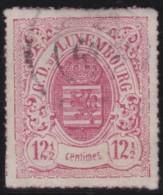 Luxembourg     .    Yvert    .    18       .     O     .        Oblitéré    .      /     .    Gebraucht - 1859-1880 Armoiries