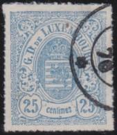 Luxembourg     .    Yvert    .    20         .     O     .        Oblitéré    .      /     .    Gebraucht - 1859-1880 Wappen & Heraldik