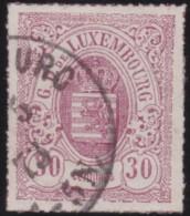 Luxembourg     .    Yvert    .    21         .     O     .        Oblitéré    .      /     .    Gebraucht - 1859-1880 Wappen & Heraldik