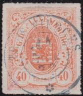 Luxembourg     .    Yvert    .    23        .     O     .        Oblitéré    .      /     .    Gebraucht - 1859-1880 Wappen & Heraldik