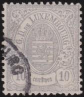 Luxembourg     .    Yvert    .     30      .     O     .        Oblitéré    .      /     .    Gebraucht - 1859-1880 Wappen & Heraldik
