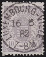 Luxembourg     .    Yvert    .  42  .   Perf.  12 1/2        .     O     .        Oblitéré    .    /     .    Gebraucht - 1859-1880 Armoiries