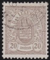 Luxembourg     .    Yvert    .  43  .   Perf.  12 1/2        .     O     .        Oblitéré    .    /     .    Gebraucht - 1859-1880 Armoiries
