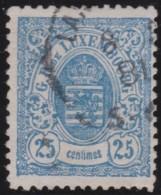 Luxembourg     .    Yvert    .  45  .   Perf.  12 1/2        .     O     .        Oblitéré    .    /     .    Gebraucht - 1859-1880 Wapenschild