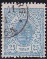 Luxembourg     .    Yvert    .  45   .   Perf.  13 1/2        .     O     .        Oblitéré    .    /     .    Gebraucht - 1859-1880 Wappen & Heraldik