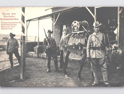 Gruss Aus Deutsch Südwestafrika Telegraphenbau In Südwestafrika MAULESEL  Mit KABELROLLE Soldatenleben Um 1908 - Ehemalige Dt. Kolonien