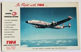 CPSM Avion Super G Constellation TWA Tampon Jamaica New York - 1946-....: Ere Moderne