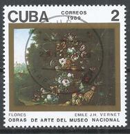 Cuba 1989. Scott #3174 (U) Painting In The Natl. Museum, Flowers, By Emile Jean Horace Vernet (1789-1863) * - Cuba