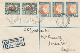 Afrique Du Sud Lettre Recommandée Pour L'Angleterre 1939 - South Africa (...-1961)
