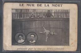 Carte Postale Spectacle Moto De Foire Ducasse Mur De La Mort F. Hinclidson Et Frédo Trés **RARE** - Spectacle