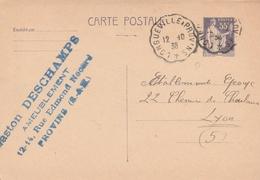 France Ambulant Longueville à Provins Sur Entier Postal 1938 - Poste Ferroviaire