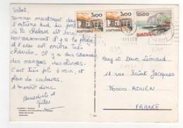 Beau Timbre , Stamp N° 1139 , 1140 Sur Cp , Carte , Postcard Du ?? Pour La France - 1910-... République