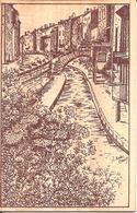 MONTBRISON (42) Carte En Bois (Originale) Quai De Vizely  (Frais D'envoi : 2 Euros) - Montbrison