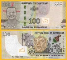 Swaziland 100 Emalangeni P-new 2017 (2018) UNC - Swaziland