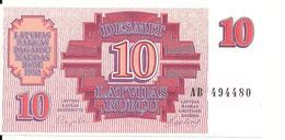 LETTONIE 10 RUBLU 1992 UNC P 38 - Latvia
