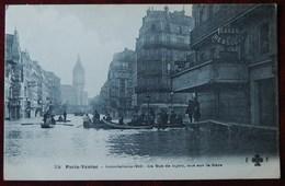 -PARIS -VENISE.Inondations1910- La Rue De Lyon,Vue Sur La Gare - Überschwemmung 1910