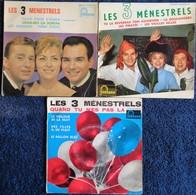 Les 3 Ménestrels   - Lot De 3 Disques 45 T . - Disco & Pop