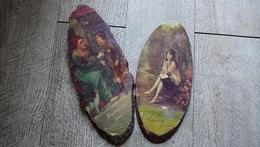 Guise Lot 2 Plaques En Bois Chaussures En Tous Genres Detourbe Publicité Ancienne Rare - Unclassified