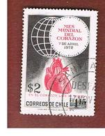 CILE (CHILE)  - SG 689 -  1972   WORLD HEARTH MONTH   -  USED ° - Cile