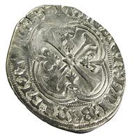 Blanc à La Couronne - Charles VIII -  France - Mouchetures D'hermine En Exergue - Billon - TTB+ - - 987-1789 Monnaies Royales