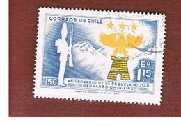 CILE (CHILE)  - SG 694 -  1972  ANNIV. O' HIGGINS MILITARY ACCADEMY   -  USED ° - Cile