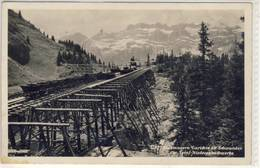 SCHWANDEN STAUMAUERN GARICHTE OB SCHWANDEN DER SERNF NIEDERENBACHWERKE Foto AK  1930 - Railway