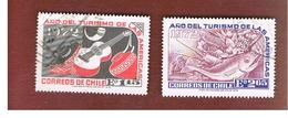 CILE (CHILE)  - SG 702.703    -  1972  TOURISM YEAR (2 STAMPS OF THE SET)   -  USED ° - Cile
