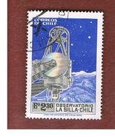 CILE (CHILE)  - SG 708    -  1973 LA SILLA OBSERVATORY   -  USED ° - Cile