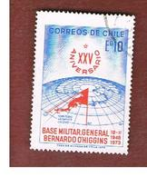 CILE (CHILE)  - SG 706    -  1973 ANTARCTIC BASE   -  USED ° - Cile
