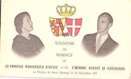 Souvenir Du Mariage De La Princesse Margherita D'Aoste Et De L'Archiduc Rober... En L'église De Brou Le 29 Décembre 1953 - Wedding