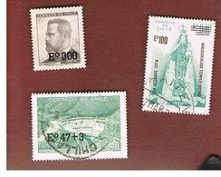 CILE (CHILE)  - SG 724.727    -  1974  3 STAMPS OVERPRINTED -  USED ° - Cile