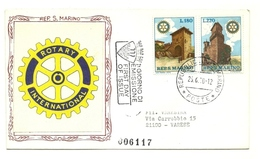 1970 - San Marino 809/10 Rotary Internazionale - FDC - Rotary, Lions Club