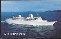 NAVE DA CROCIERA  M.S. KUNGSHOLM 1952\1985 - FORMATO PICCOLO - NUOVA - Dampfer