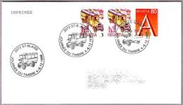 DIA DEL SELLO - STAMP DAY - VEHICULO POSTAL - POSTAL CAR. St Blaise 1998 - Correo Postal