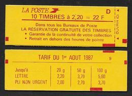 Un Carnet Guillochis Rouge N° Gu 11c (couverture Non émise Période LIBERTE) - Essais