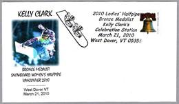 KELLY CLARK - Medalla Bronce SNOWBOARD. West Dover VT 2010 - Invierno 2010: Vancouver