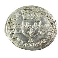 Douzain Aux Croissants - Henri II -  France - 1552 A - Paris -  Billon - TTB - - 1547-1559 Henri II