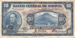 BOLIVIE   10 Bolivianos   L. 20/7/1928   P. 121a - Bolivie