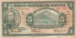 BOLIVIE   5 Bolivianos   L. 20/7/1928   P. 120a - Bolivie