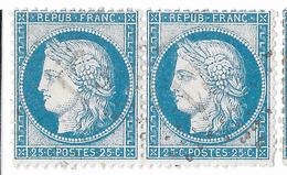 TIMBRES N°60/1  PAIRE  85/86 G3 ;  RARE  ;   ; TTB - 1871-1875 Cérès