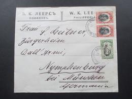 Bulgarien 1911 Interessanter Brief Mit Dem Stempel Bureau Ambulant Svilengrad - Tzar... Verwendet 1914 Bahnpost - Cartas