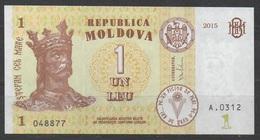 MOLDAVIE   __ 1 LEU  2015 __VOIR SCAN - Moldavie