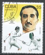 Cuba 1992. Scott #3438 (U) Summer Olympics, Barcelona, Ramon Fonst, Fencing * - Cuba