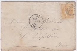 LAC - N°43 B OBL. CàD LYON 19 MAI 71 - Marcophilie (Lettres)